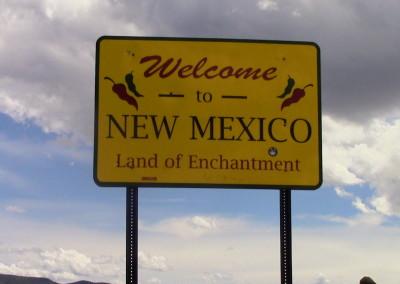 New Mexico Border Sign