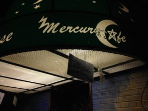 mercury cafe sign